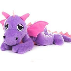 Habibi Plush dragón morado y rosa peluche para calentar