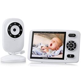 TOGUARD Video Baby Monitor with Camera,3.5 Inch Screen Infant Optics Digital Video Baby Monitor with 2 Way Talk Infrared Night Version Wireless Transmission Vox Auto Feeding Clock Lullabies
