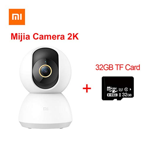 Xiaomi Mijia Smart IP Camera 2K 360 Angolo Video CCTV WiFi Visione Notturna Telecamera di Sorveglianza Wireless Baby Monitor con 32 GB TF Card