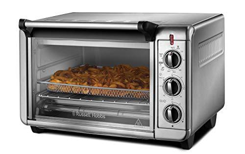 Russell Hobbs Minibackofen Express Airfry 5-in-1: Heißluftfritteuse, Backofen, Grill, Toaster, Warmhaltefunktion (22,8l, Pizza Ø 30cm, +Frittierkorb+Backblech+Grillrost) Umluft Heißluft Ofen 26095-56