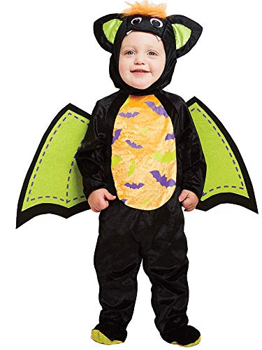 amscan Child Baby Iddy Biddy Bat Jumpsuit Costume Halloween Fancy Dress (Ages 3-4 years)