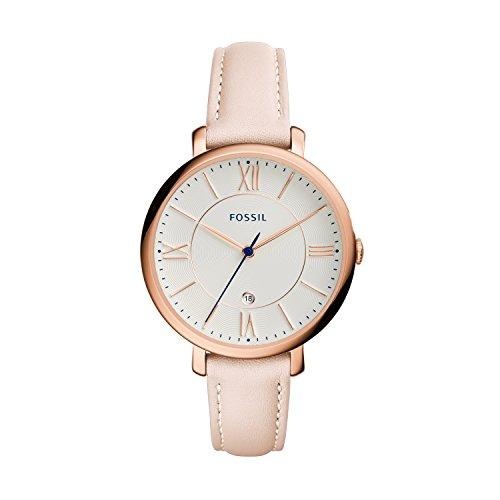 Fossil Damen Analog Quarz Uhr mit Leder Armband ES3988