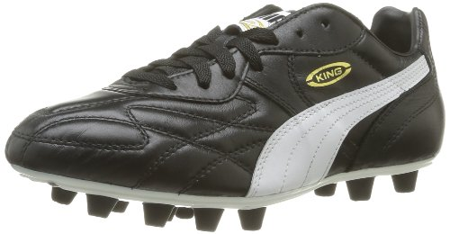 Puma King Top di FG, Scarpe da Calcio Man (Football), Nero (Black-White-Team Gold), 9