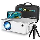 1080P HD Projector, WiFi Projector Bluetooth Projector, FANGOR 6500 Lumen 230' Portable Movie...