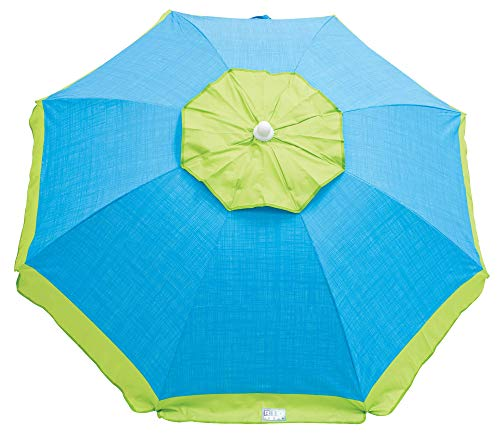 Rio Brands Beach 6-Foot UPF 50+ Tilt Beach Umbrella with Wind Vent