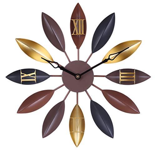 ZUJI 60CM Orologio da Parete Silenzioso Grand Orologio da Muro Decorativo Orologio in Ferro