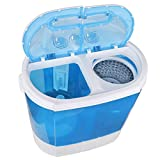 ZenStyle Portable Washer Compact Twin Tub 9.9 LB Mini Top Load Washing Machine Washer/Spinner w/...