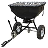 Yard Commander YTL-002-179 125 Pound Tow Broadcast Fertilizer Spreader, Black