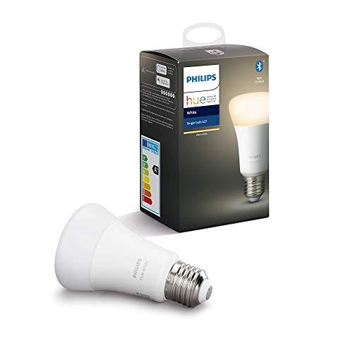 Philips Hue Bombilla Inteligente LED E27, con Bluetooth, Luz Blanca...