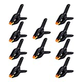 10 Packs of 3.5 inch Professional Plastic Small Spring Clamps Heavy Duty for Crafts or Plastic Clips and Backdrop Clips Clamps for Backdrop Stand,Photography, Home Improvement and so on