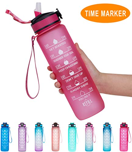Giotto 32oz Large Leakproof BPA Free Drinking Water Bottle...