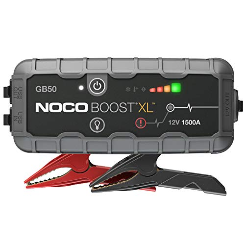NOCO Boost XL GB50 1500 Amp 12-Volt UltraSafe Portable Lithium Jump Starter, Car Battery Booster Pack, And Jump Leads For Up To 7-Liter Gasoline And 4-Liter Diesel Engines