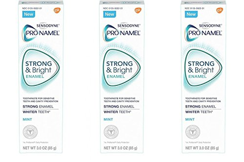 Sensodyne Pronamel Strong and Bright Mint Toothpaste, 3 Ounce (Pack of 3)