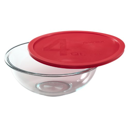Large 4-Quart Glass Mixing Bowl