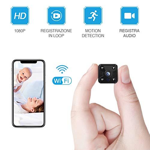 FREDI HD1080P WIFI telecamera Spia videocamera nascosta Microcamera Wireless Mini Camera spia microtelecamera wifi Hidden Spy Cam Videocamera di sorveglianza Interno IP telecamera di sorveglianza