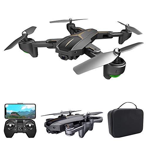 Kedelak VISUO XS812 Drone con Fotocamera 4K Drone GPS 5G WiFi FPV Drone Pieghevole modalit Senza Testa GPS Segui Il Gesto di ripresa Un Drone di Ritorno Chiave per Adulti con Custodia