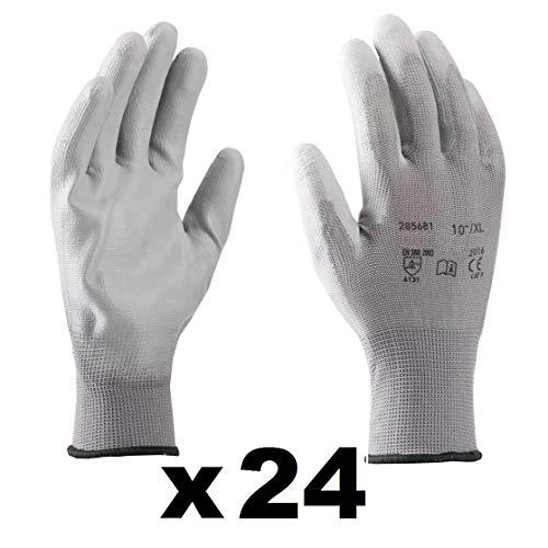 Guanti da lavoro (24 paia) - Guanti di montaggio antiscivolo senza cuciture - comodi, ideali per...