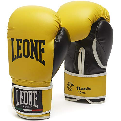 León 1947 Flash, Guantes de Boxeo Unisex-Adulto, Unisex Adulto, Flash, Amarillo