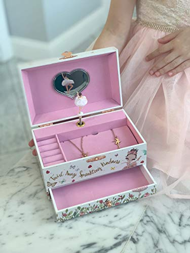 Product Image 6: The Memory Building Company Musical Ballerina Jewelry Box for Girls & Little Girls Jewelry Set - 3 Dancer Gifts for Girls…