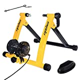 Unisky Bike Trainer Stand Indoor Exercise Bicycle Training Stand Magnetic Riding Stand with 6 Level Resistance for Mountain & Road Bike