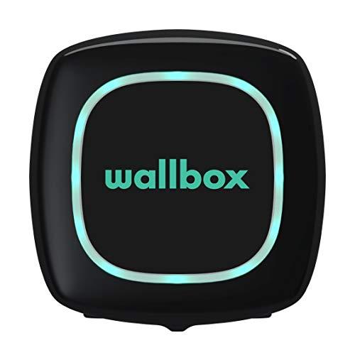 Wallbox Pulsar Cargador para Coches eléctricos. Tipo 2. Potencia máxima 22 kW. (Negro, Cable 7 m)