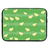 Chickens On The Grass Bolsas para computadora portátil Compatible con Tableta Netbook de 15 ″, Maletín con Funda Pringting Funda para Bolso de Transporte Funda