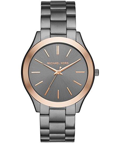 Michael Kors Men's Analog-Quartz Watch with Stainless-Steel Strap, Grey, 22 (Model: MK8576)