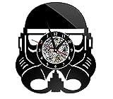 BOAOMAN Marvel série 12 Pouces Noir samouraï Disque Vinyle Horloge Murale...