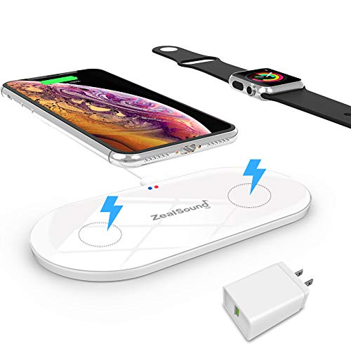 SDual Fast Wireless Charger, ZealSound 10W Fast Qi Wireless Charging Pad