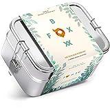 FOXBOXX® Brotdose Edelstahl | Multi 1550ml | DOPPEL Premium | mit 2 Ebenen & Minidose - Dicht Plastikfrei Nachhaltig auslaufsicher | Lunchbox Brotbox Vesperdose Brotbuechse Bento | Kind Schule