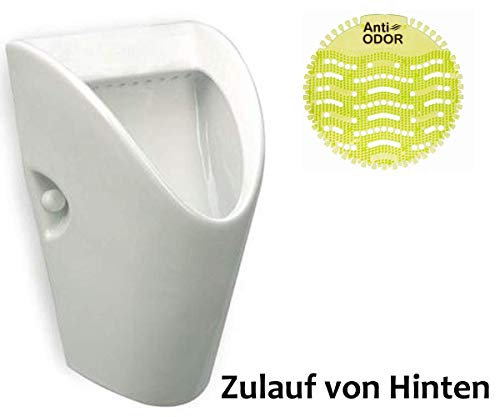 VBChome Urinal Zulauf Hinten Weiß Keramik Modern Spülrand Geschlossen Urinalsieb Pissoir ROCA CHIC
