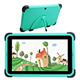 Kids Tablet Android 10 Tablet PC 2021 New HD IPS Screen, 2GB RAM 32GB ROM, Kids Wi-Fi Tablet, Kids Learning Tablet Childproof Case (Green)