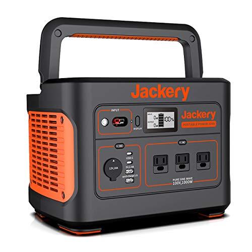 Jackery ポータブル電源 1000 超大容量278400mAh/1002Wh 家庭アウトドア両用バックアップ電源 PSE認証済 純...