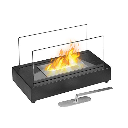 Giselle Table Styled bioethanol Fireplace with a 0.5L Single Layer 430 Stainless Steel Burner and Control Tool.