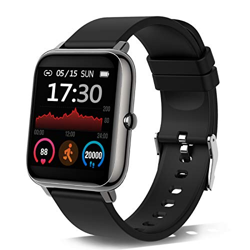 Montre Connectée Femmes Homme, 1,4 Pouces Montre Intelligente Smartwatch...