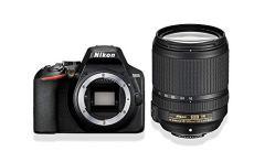 "Nikon D3500 - Cámara réflex Digital con Objetivo Nikkor AF-S 18/140VR, 24.2 megapíxeles, LCD 3"", SD de 16 GB 300x Premium Lexar, Color Negro"