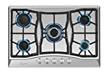 Empava 30' Stainless Steel 5 Italy Sabaf Burners Stove Top Gas Cooktop EMPV-30GC0A5