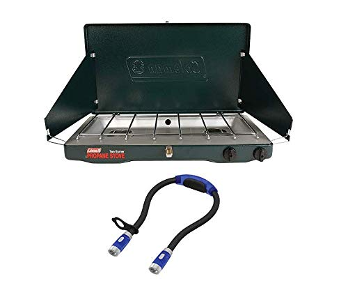 Coleman Portable Propane 2 Burner Gas Classic Stove with...
