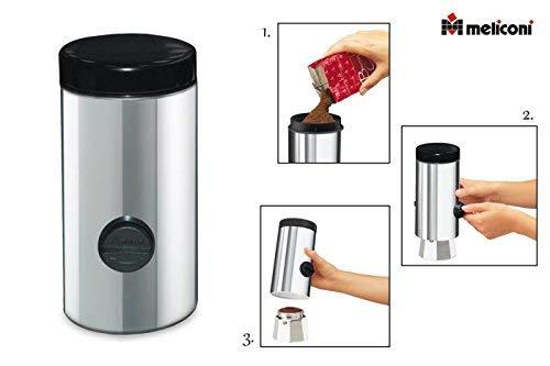 Meliconi - Dosificador de café automático, de acero inoxidable