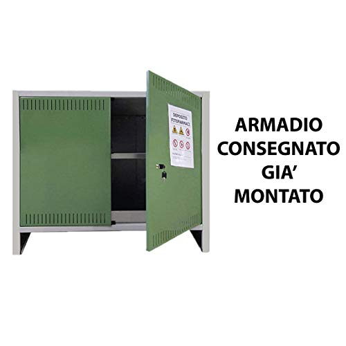 ARMADIO FITOFARMACI 2 ANTA Cm 100x40x80H OMOLOGATO DEPOSITO STOCCAGGIO SICUREZZA