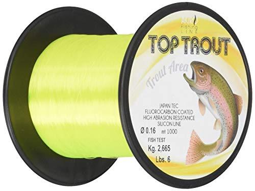 Akiro Top Trout, Filo da Pesca Unisex  Adulto, Giallo Fluo, 0.18 mm