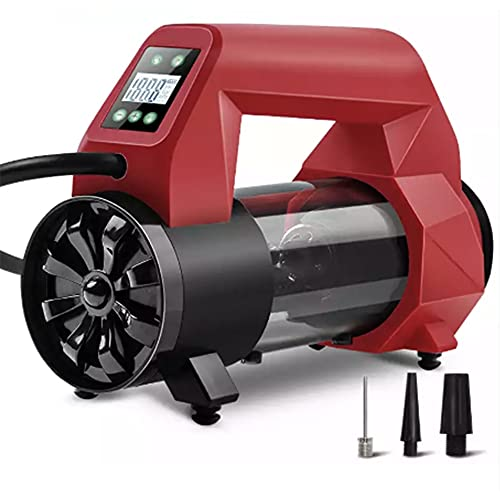 NoOne Tire Inflator Portable Air Compressor Pump, 12V DC Digital Tire Inflator with LED Light, 120PSI