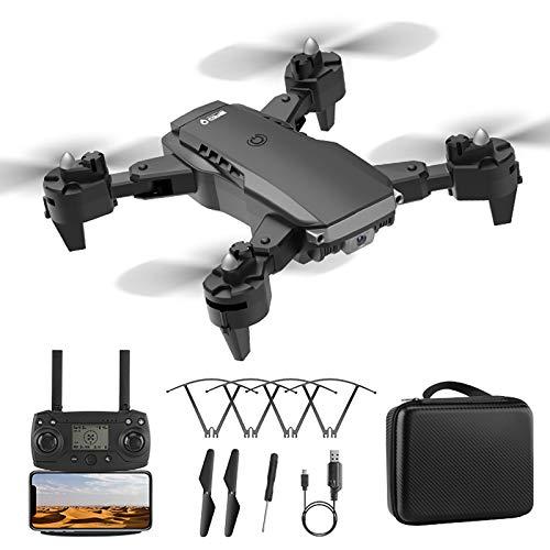 Droni GPS pieghevoli per adulti, Mini drone con telecamera WiFi 4K, Drone pieghevole per principianti con ritorno automatico a casa, Quadricottero drone con batteria, Raggio di controllo lungo