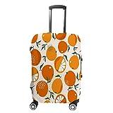 Cubierta de equipaje de viaje antiarañazos, funda protectora de equipaje de naranjas frescas hojas ajuste accesorios lavables a prueba de polvo