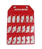 Accusize Industrial Tools 18 Pc Angle Gauge Set, 3602-5050