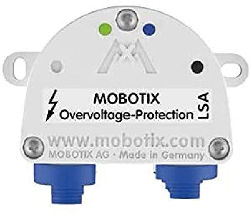 Mobotix Protection-Box-RJ45 - Sistema di videosorveglianza con protezione da sovratensione, colore: Nero/Bianco