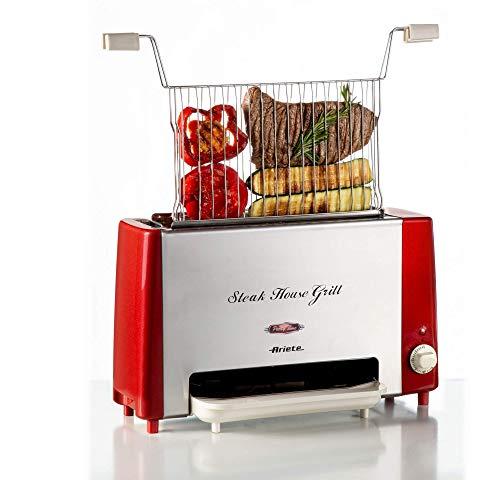 Ariete 730 Steak House Grill, Bistecchiera e griglia verticale, Barbecue elettrico, Griglia inox...