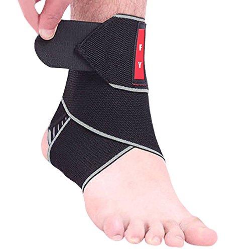 Supporto Caviglia con Rinforzo Cavigliera Sportiva Elastica Regolabile Caviglia Tutore Compressione Traspirante per Distorsione 1 Pezzo