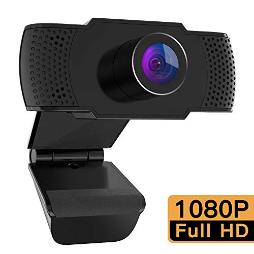 M Mehoom Webcam 1080P con Microfono, videocamera PC Desktop USB 2.0 Full HD Web Camera per...