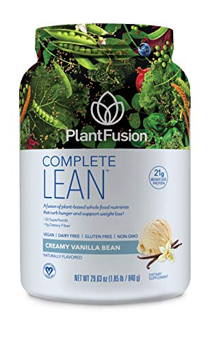 PlantFusion Complete Lean Plant Based | Weight Loss Protein Powder | Supports Blood Sugar & Controls Appetite | Superfoods with Digestive Enzymes | Gluten Free, Vegan, Non-GMO, Vanilla, 1.85 LB